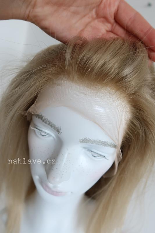 Světlá vanilková blond paruka z lidských vlasů, dámská