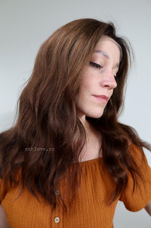 Pravý vlas, paruka, parochne, lidské vlasy, hnědá