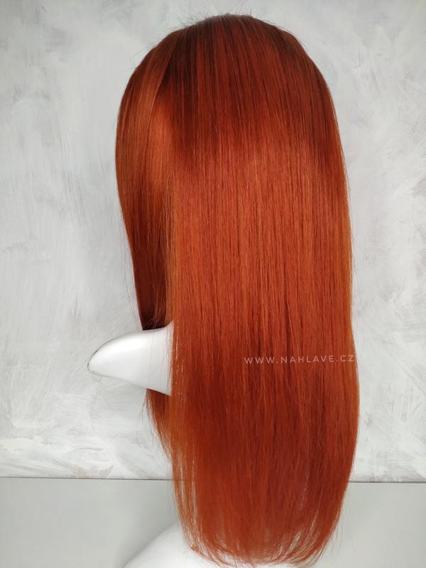 Paruka, parochne z pravých vlasů v zrz barvě.