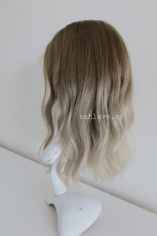 Paruka parochne z pravých vlasů ombre