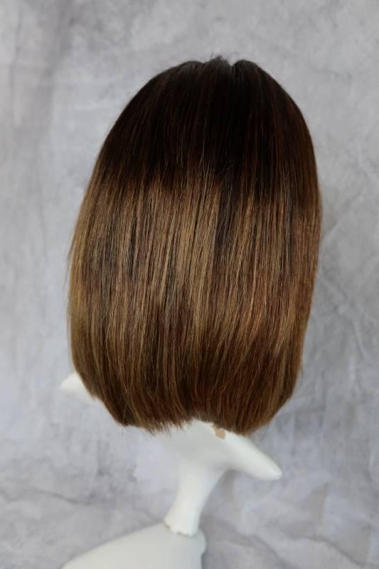 Paruka z pravého vlasu v limitovaném kusu, krásné přirozené hnědé barvě a mikádo střihu.